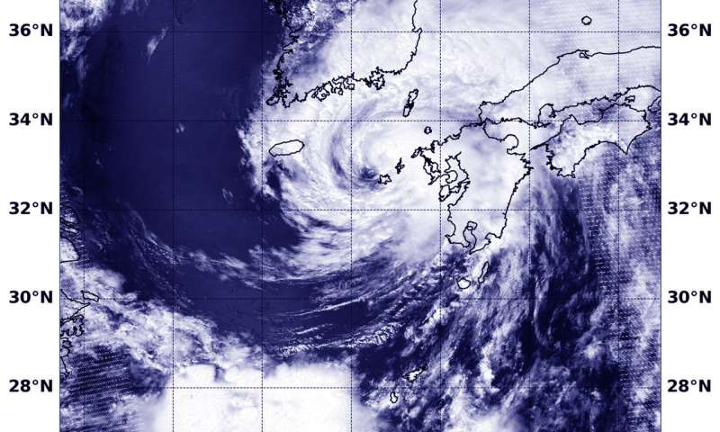 NASA finds Typhoon Prapiroon affecting Korean Peninsula, southern Japan
