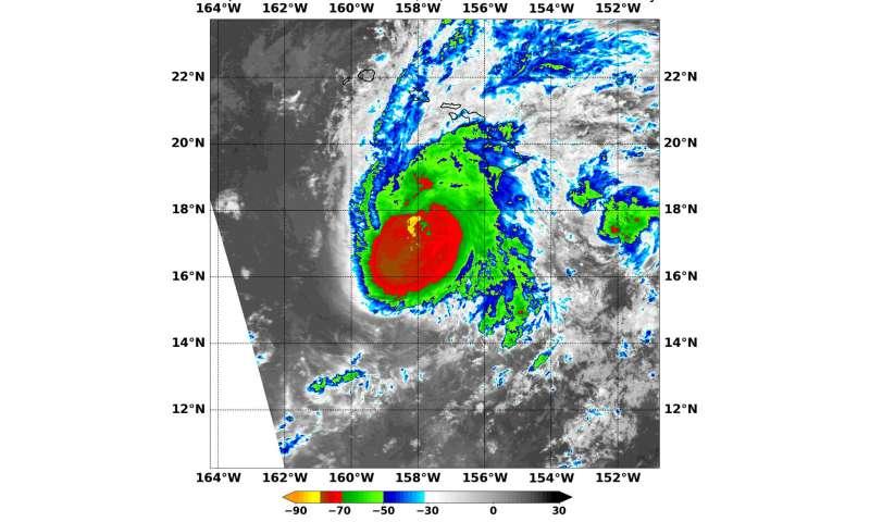 NASA looks at heavy rainmaker in Hurricane Lane