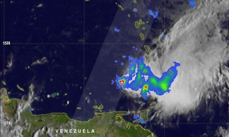 NASA looks at Tropical Storm Kirk's Caribbean rainfall