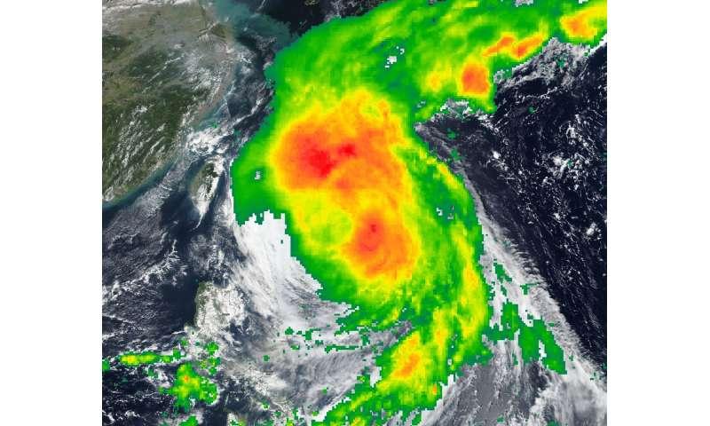 NASA puts together a composite of Tropical Storm Kong-Rey