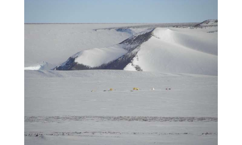 NASA scientist collects bits of the solar system from an Antarctic glacier