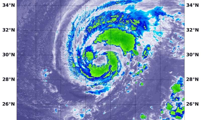 NASA sees Atlantic's Leslie become a hurricane