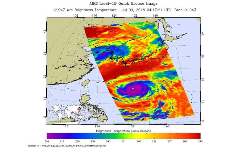 NASA sees a well-organized typhoon Maria