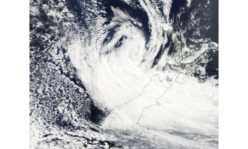 NASA sees ex-Tropical Cyclone Gita affecting New Zealand