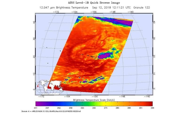 NASA Sees Hawaii facing Tropical Storm Olivia