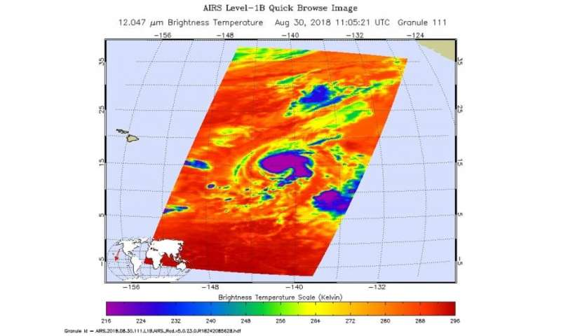 NASA sees Hurricane Miriam tracking over the open Central Pacific