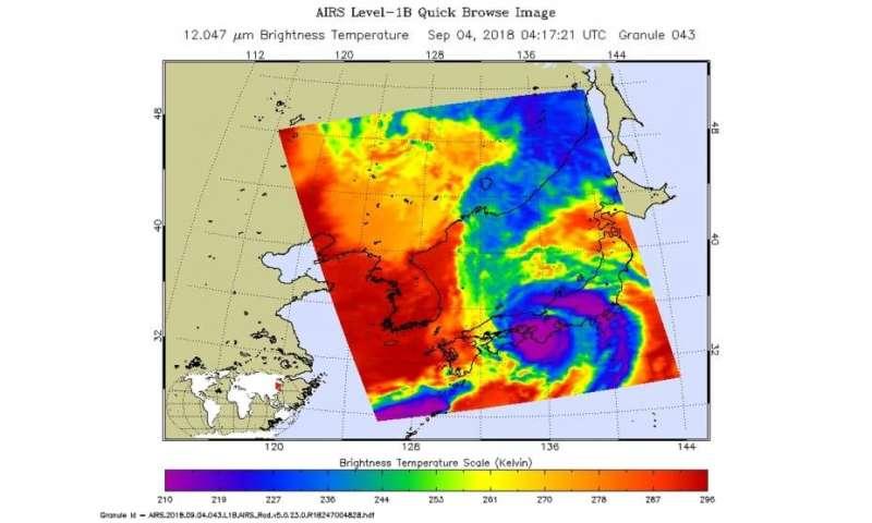NASA sees landfall of Tropical Storm Jebi