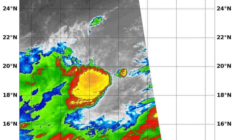 NASA sees wind shear affecting Tropical Storm Yagi