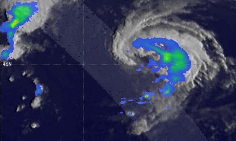 NASA's GPM analyzes Atlantic Tropical Storm Ernesto's rainfall