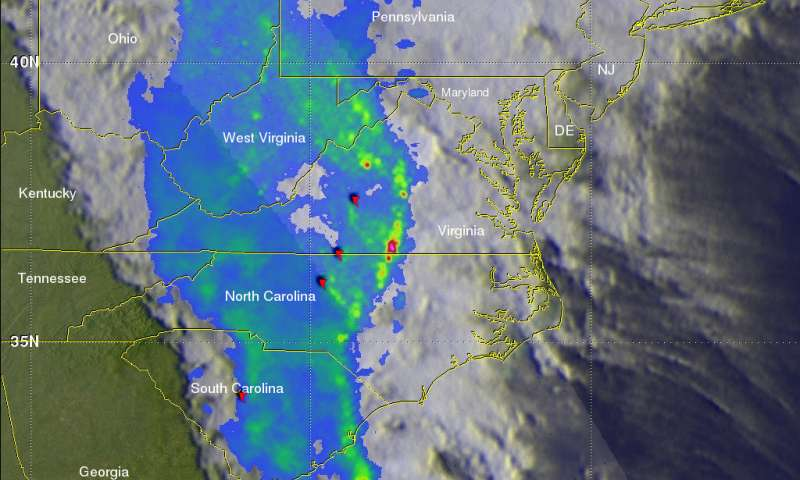 NASA's GPM catches line of strong storms responsible for tornadoes in eastern US