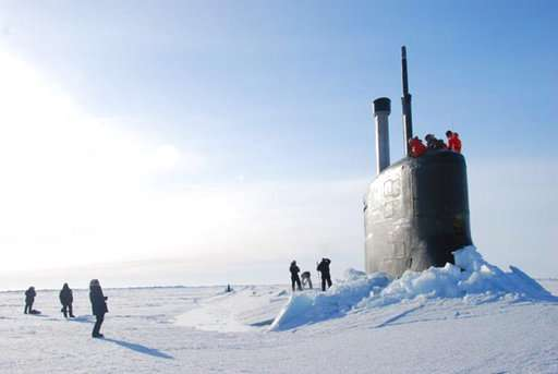 Navy starts under-ice submarine exercise off Alaska's coast