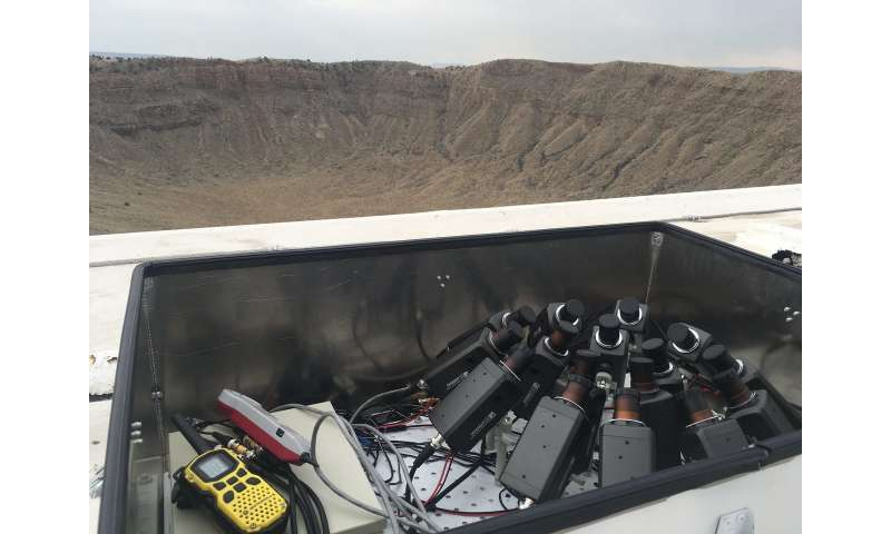 Network of video cameras poised to catch meteor showers over meteor crater