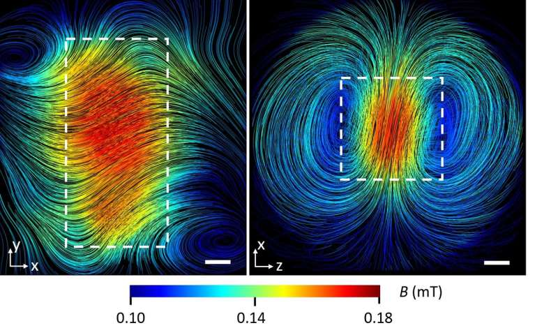 Neutrons scan magnetic fields inside samples