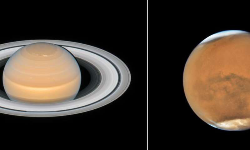 New family photos of Mars and Saturn from Hubble