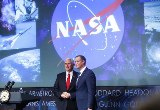 New NASA boss gets 'hearty congratulations' from space