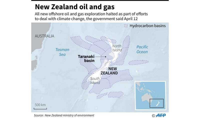 New Zealand's government has 22 active offshore oil and gas exploration permits