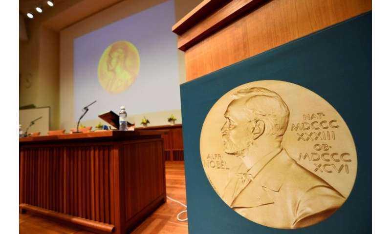 Nobel winners' names are engraved on the back of the medal, except for the peace and economics prizes