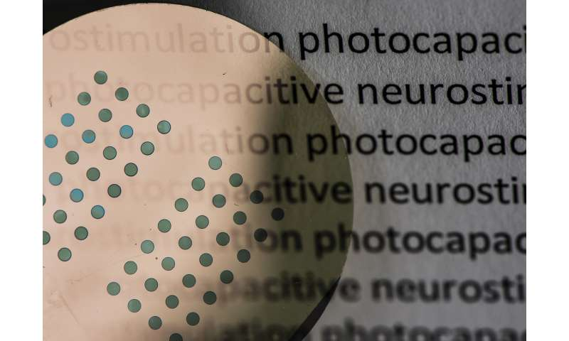 Organic printing inks may restore sight to blind people