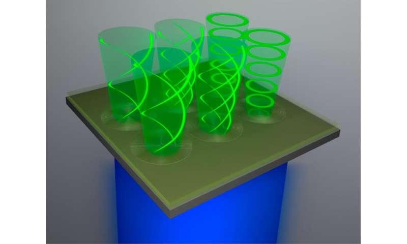 organic vortex laser