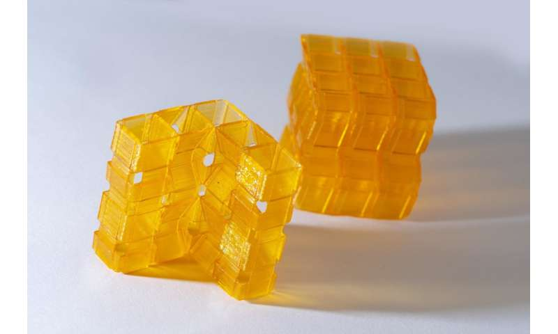 Origami, 3-D printing merge to make complex structures in one shot