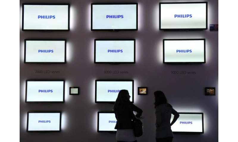 Philips is best known for the manufacture of light bulbs, appliances and TVs