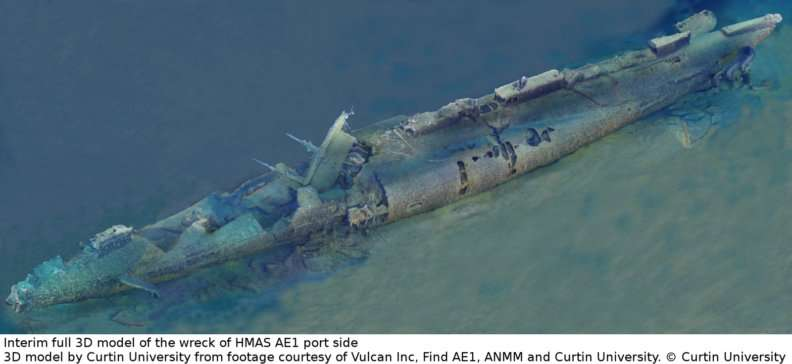 Photographic processing unlocks more secrets from HMAS AE1 shipwreck