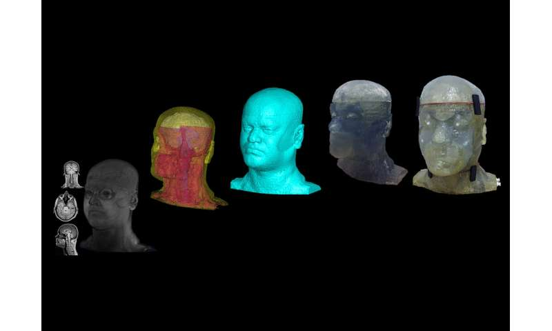 Pitt bioengineering grad student makes waves in MR research with a 3D printed phantom head