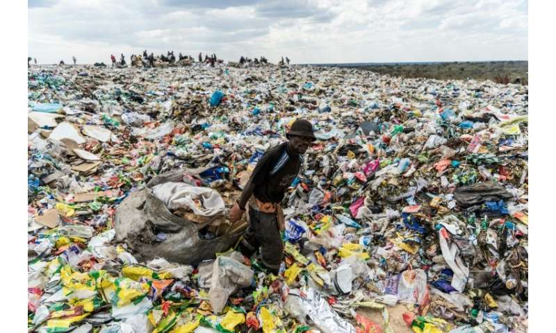 Plastic problem: A landfill in Bulawayo, Zimbabwe, gives an idea of the mess in Africa