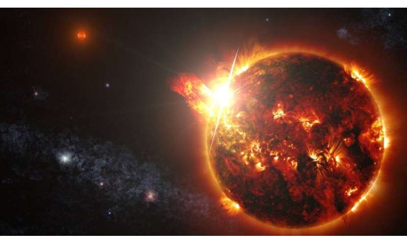 Powerful flare detected on an M-dwarf star