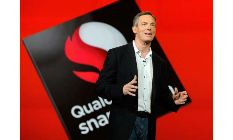 Qualcomm chairman Paul Jacobs was among the executives of the California mobile chip giant attending a meeting with Broadcom on