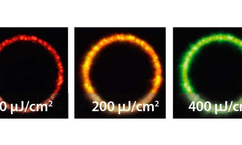 quantum dot ring lasers