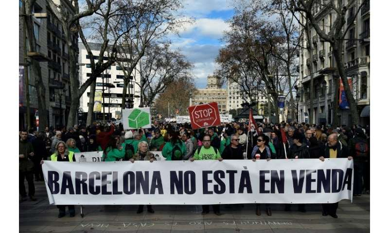 """Barcelona is not for sale,"" protesters say"
