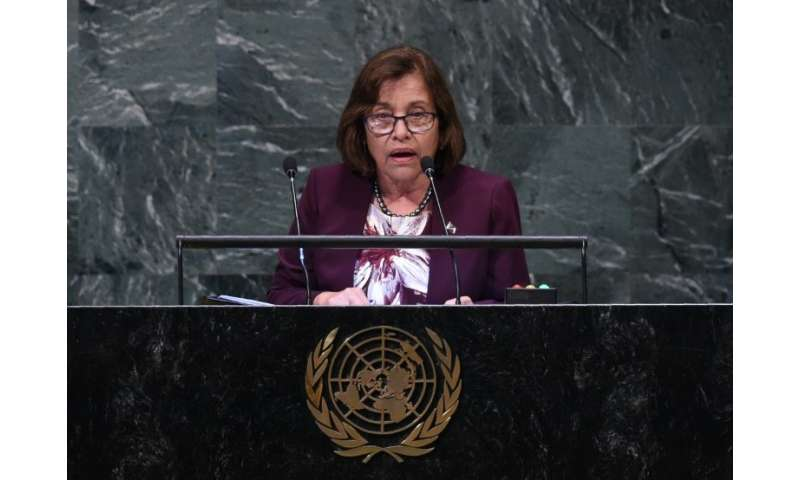 """""""We are bearing the torch for those vulnerable to climate change,"""" Marshall Islands President Hilda Heine told the COP"""