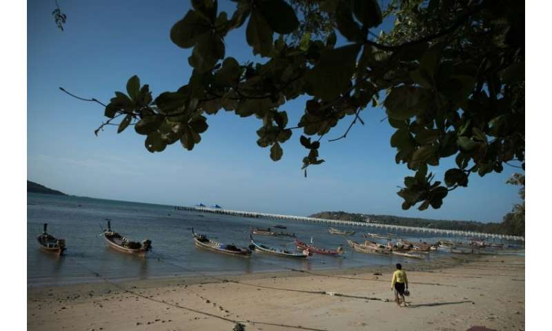 Rawai beach, where a crocodile has made an unwelcome appearance