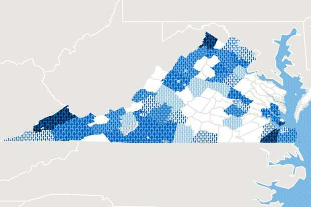 Report shows death rates are rising in Virginia's white population