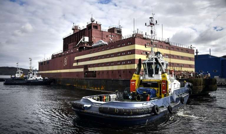 Russia unveils the first ever floating nuclear power plant in Murmansk