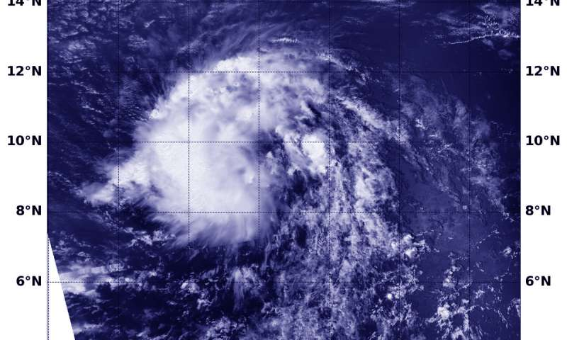 Satellite sees short-lived Tropical Cyclone Kirk