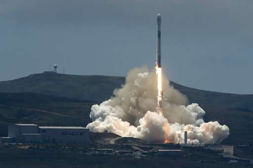 Science and commercial satellites launched from California