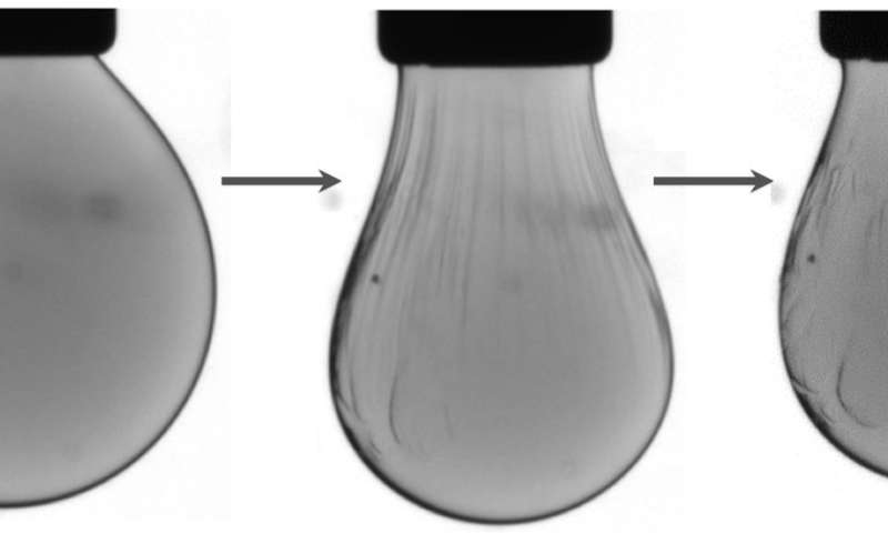 Scientists squeeze nanocrystals in a liquid droplet into a solid-like state and back again