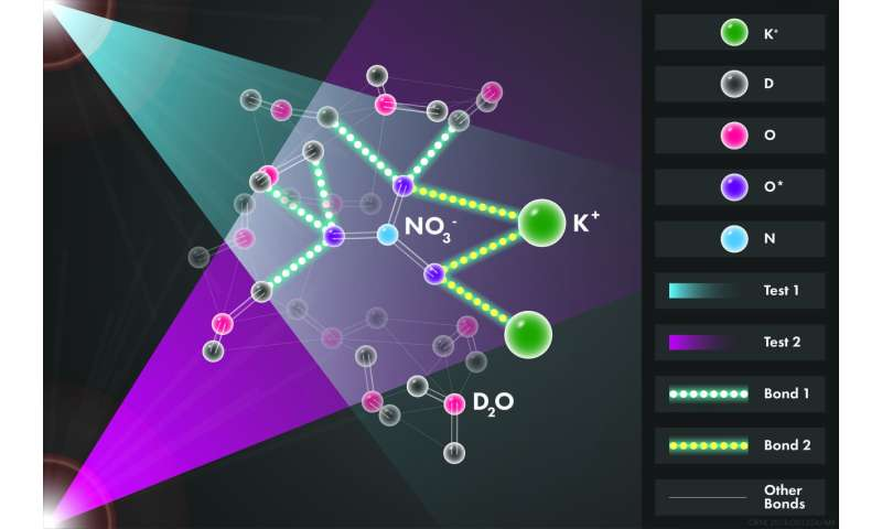 Seeing a salt solution's structure supports one hypothesis about how minerals form