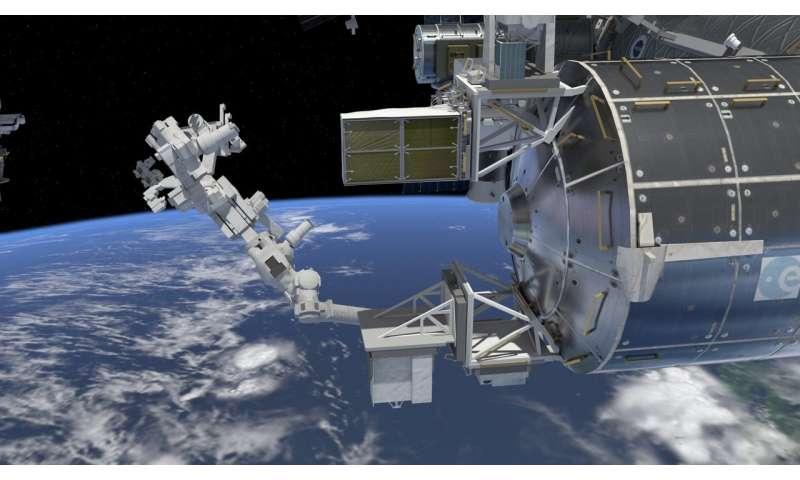 Sensor to monitor orbital debris outside space station
