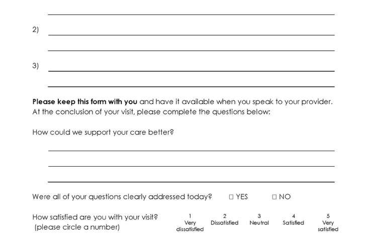 Simple one-page tool improves patient satisfaction with doctor visit