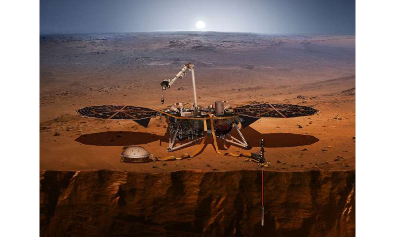 Simulations for Mars Insight mission