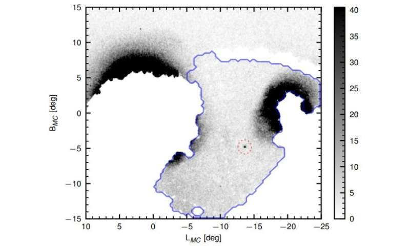 Snake in the Clouds: Astronomers discover a new dwarf galaxy in the Magellanic Bridge
