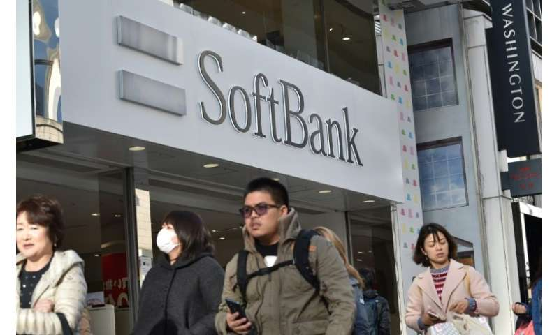 SoftBank said overall sales rose on the robust performance of key operations including its domestic telecom business, Yahoo Japa