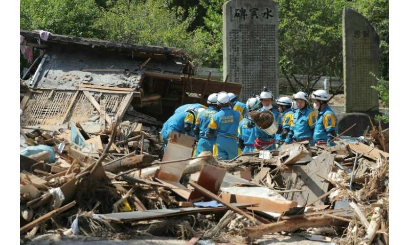 Some 4,700 survivors were forced to evacuate the disaster area, where homes were reduced to rubble by the floods and landslides