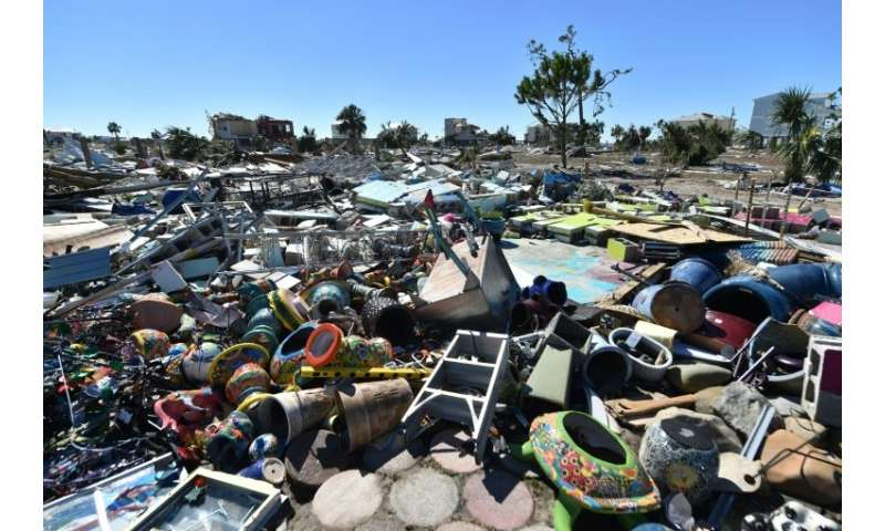 Some areas of Mexico Beach are simply a giant wasteland of debris