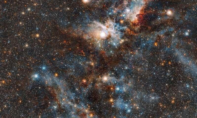 Stars vs. dust in the Carina Nebula Starsvsdusti