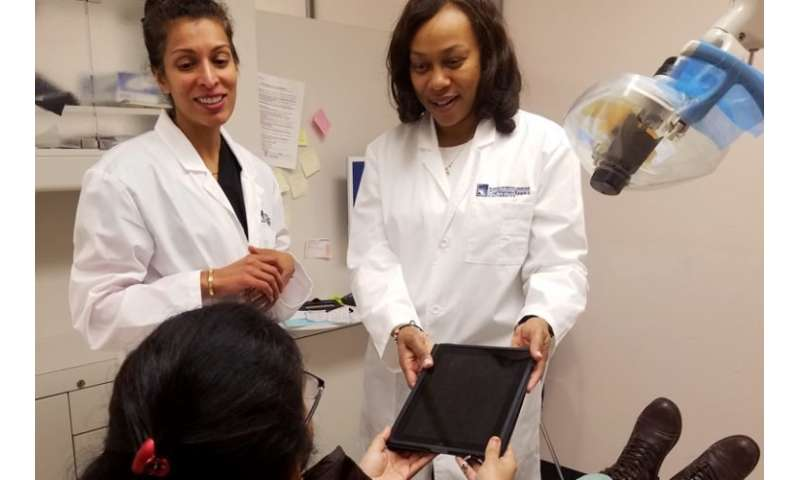 Streamlined, cost-cutting post-treatment dental advice via iPad