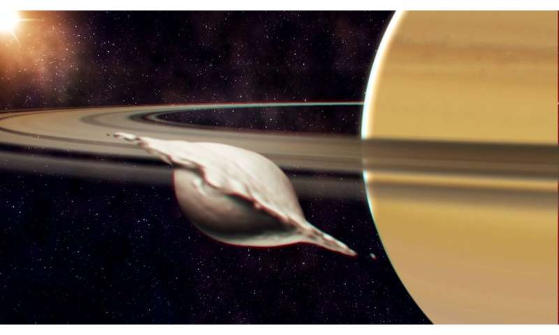 Study details the history of Saturn's small inner moons